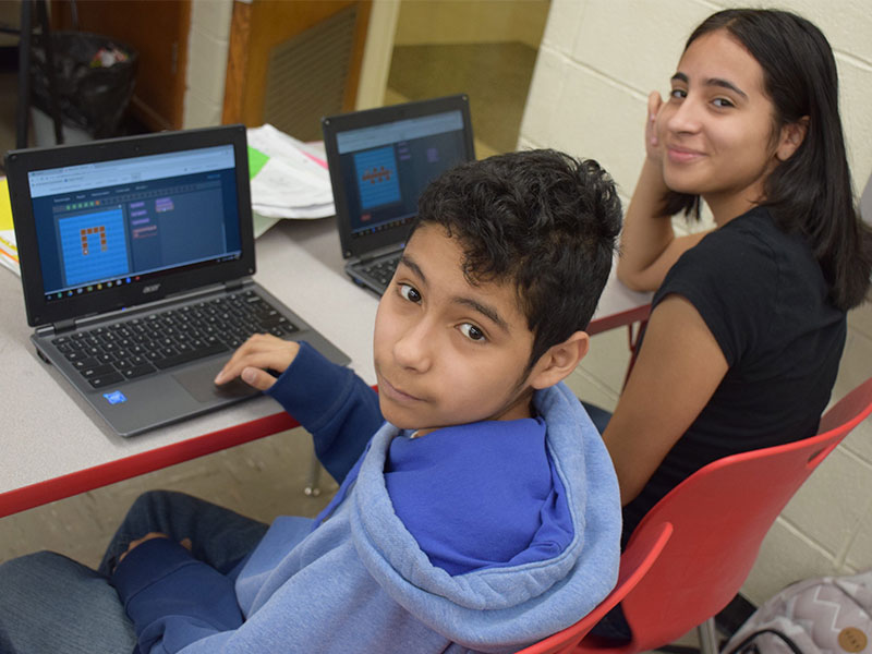 Middle Schoolers Introduced to Coding