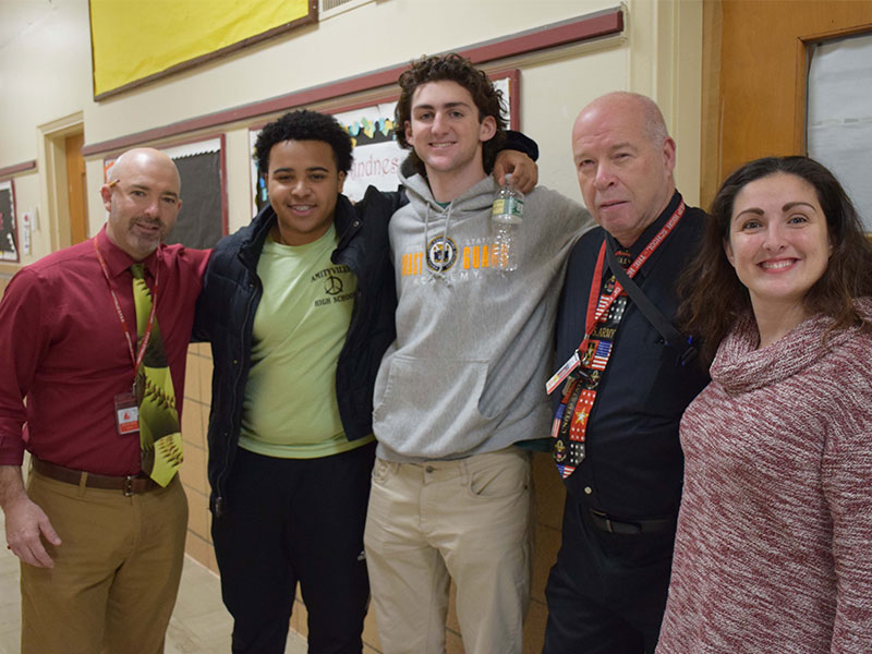 Amityville, East Islip Students Create New Bonds