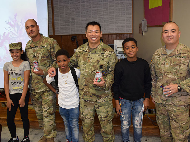 Middle School Welcomes Military Heroes