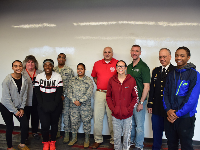 Veterans Make Connection With Amityville Students