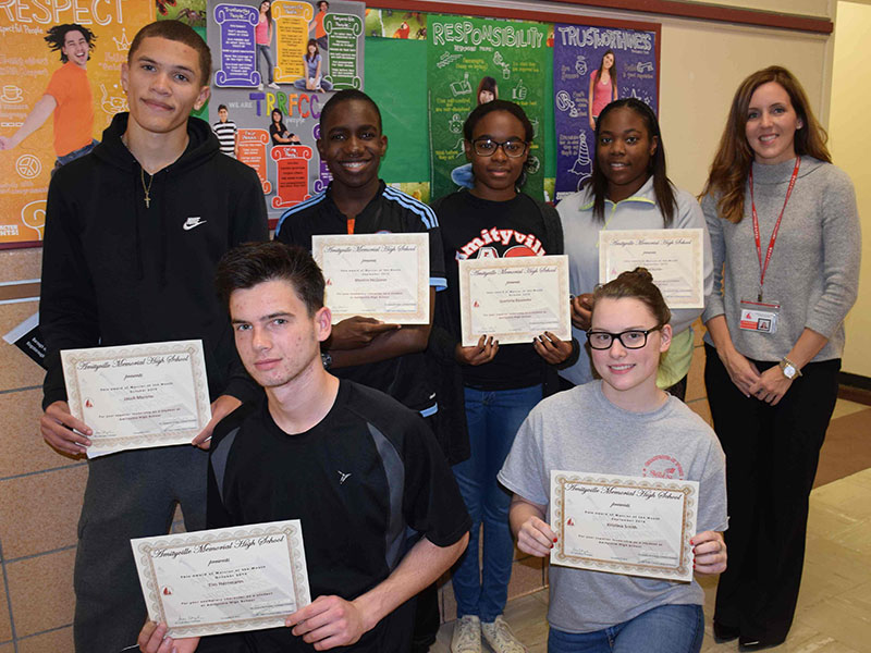 High School Names Students of the Month